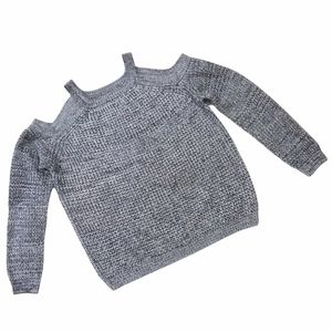 Cozy Casual Women's Cable Knit Cold Shoulder Sweater